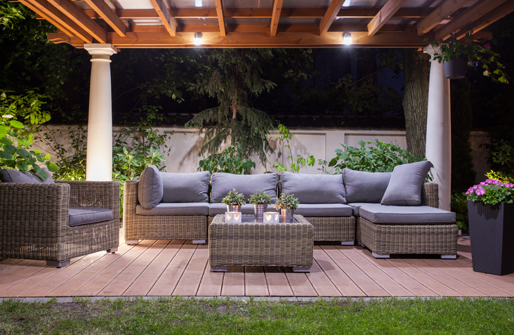 Evenings are more cozy with a custom outdoor living space. Plant Professionals can help with design ideas.