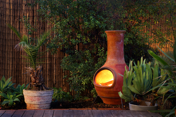 Modernize Your Landscape - Backyard Fireplace